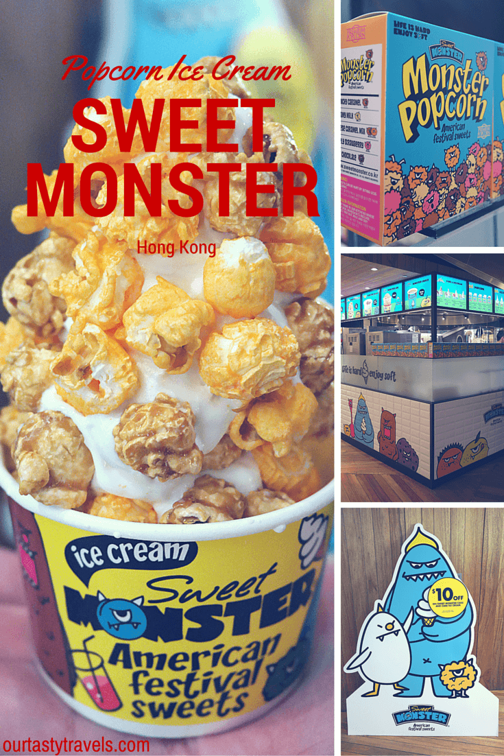 Sweet Monster Popcorn Ice Cream in Hong Kong -- ourtastytravels.com