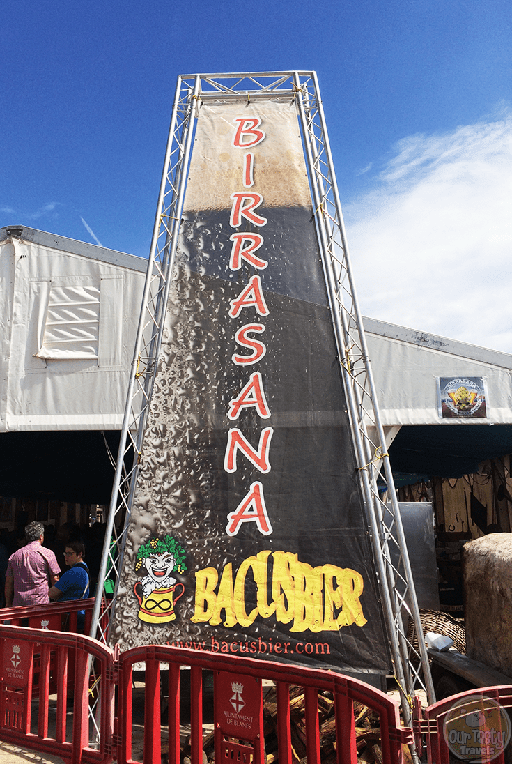 Entrance to the Birrasana Beer Festival in Blanes, Spain