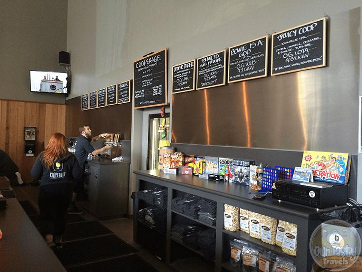 Taps and Taplist at Cooperage Brewing Company in Santa Rosa, California