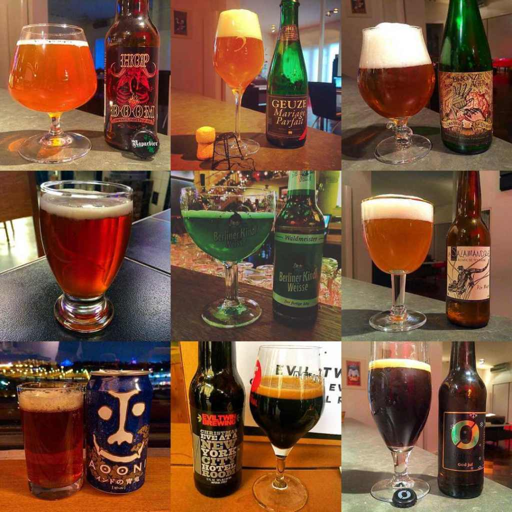 Some of the #ottbeerdiary beers of the day from 2015 - Top Instagram Likes