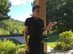 Zeb working at the Glen Iris in Letchworth State Park (he is on break here)
