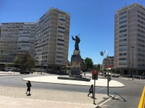 Statues everywhere. I think this one is St. Anthony, patron saint to the city.