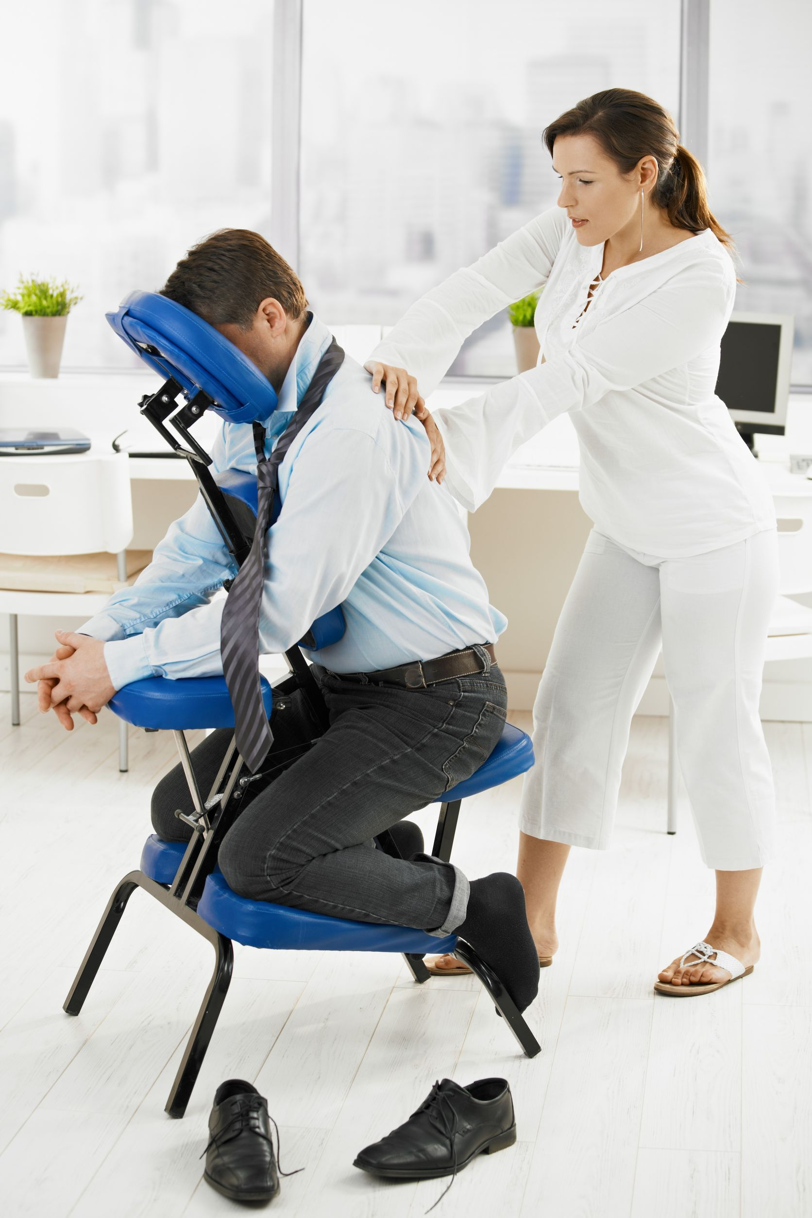 Chair Massage Therapy Works Chair Massage In The Workplace