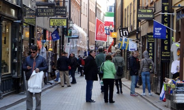 Walking Gamla Stan Old Town Stockholm Our Tour Motorhome Blog