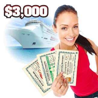 Win a Cruise Wilmington, Cary and Raleigh, North Carolina