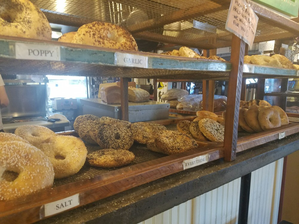 Bagels at 158 Picket Street Cafe
