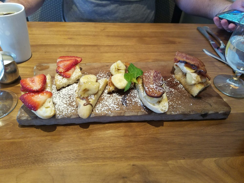 The Breakfast Bruschetta from the Hash Kitchen in Scottsdale is a delightfully sweet way to start your day!