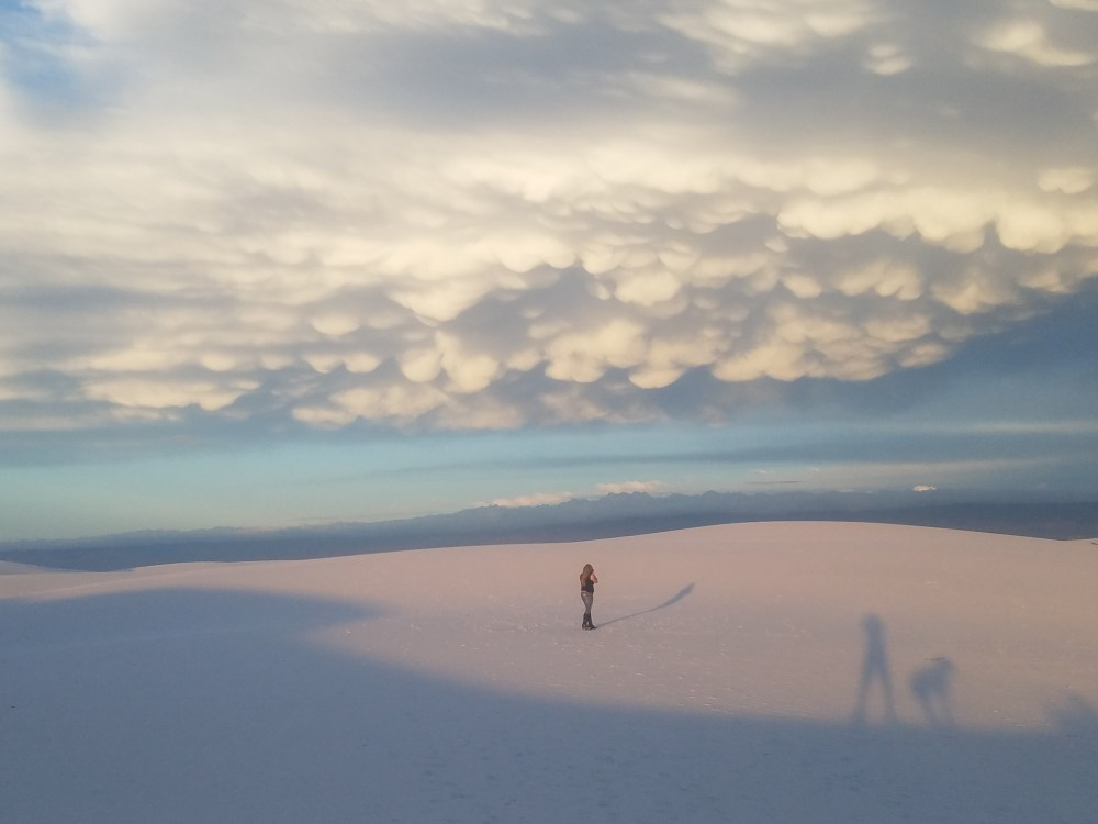 Casting long shadows at White Sands National Monument New Mexico