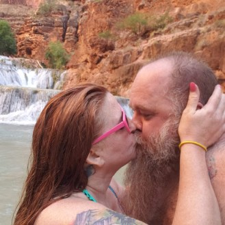 Bonny and I enjoying the Falls