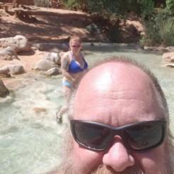 Bonny and I enjoying the river