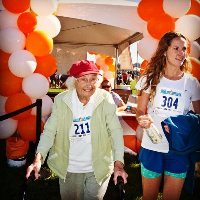 Barbara Maloy 91 year old 5k racer