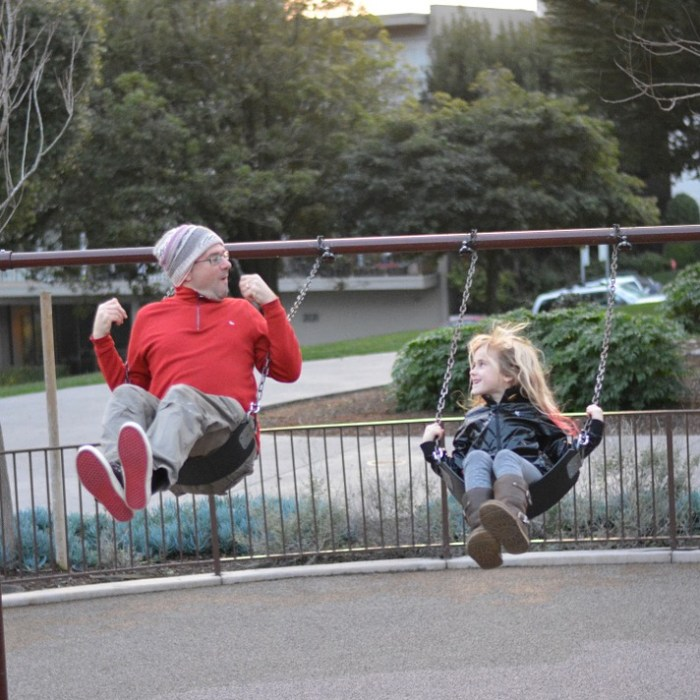 Fun with dad.