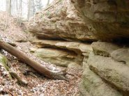 The old layers of sandstone were impressive.