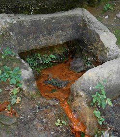 """This """"well"""" encloses a natural spring."""