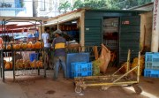 One of the many vendor stalls from the back.