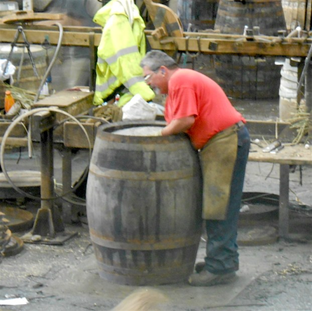 Coopers prepare about 20 barrels a day and are paid for each that passes inspection.