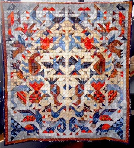 We stumbled on a quilt exhibit. This is one beautiful example.