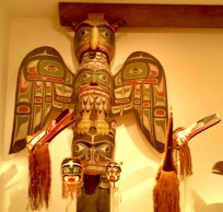 Totems and special ceremonial head dress.
