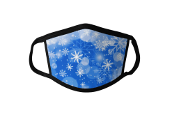 Snowflake Blue and White Face Mask