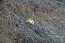 Smiley faces greeted us in a few places on the way to Lake Hennessey