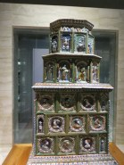 Tiled stove, 16th century, early form of central heating