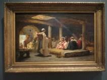 Cafe at Biskra, Algeria, Bridgman (1884)