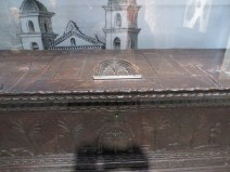Chest, Spanish, 17th century. Figures represent Faith, Fortitude, Resignation, and Despair
