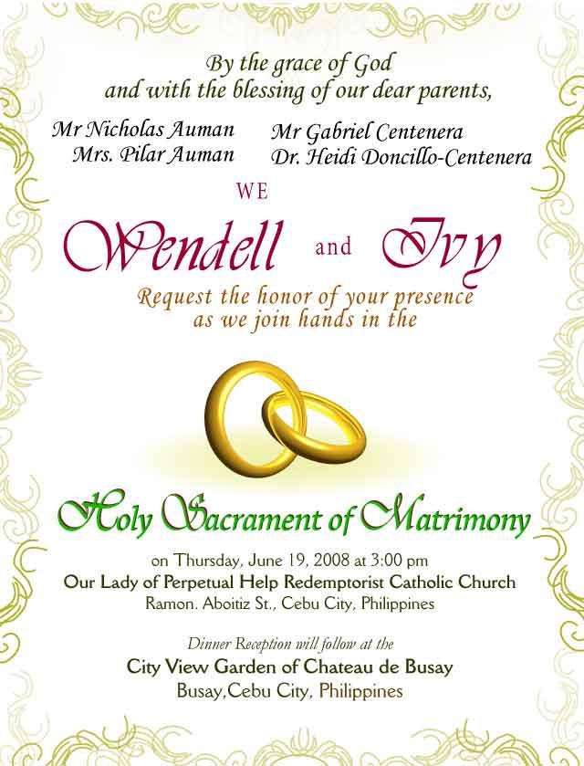 Wedding Invitation Card Verse