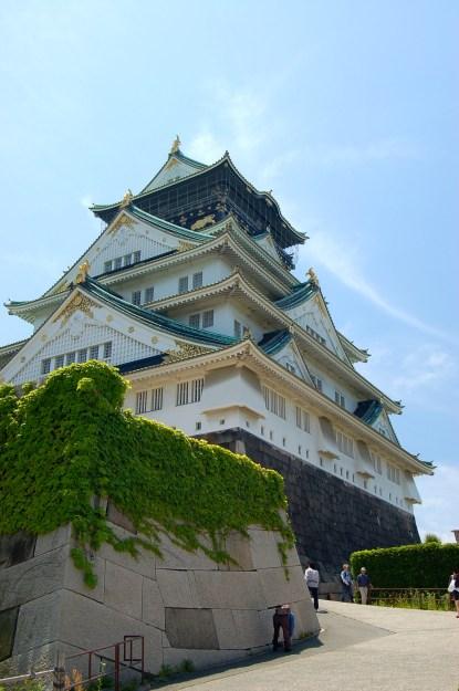 The Osaka Castle's main tower