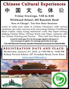 Chinese Cultural Experiences Poster