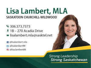 Lisa Lambert, MLA for Churchill-Wildwood