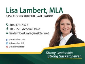 Lisa Lambert, MLA for Churchill-Wildwood