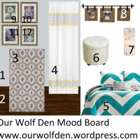 Mood Board - Grey, Teal and Yellow Bedroom