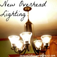 Replacing the Overhead Florescent Light in the Kitchen