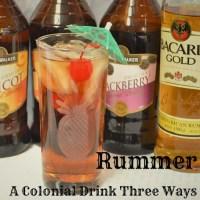 Rummer - A Colonial Drink Three Ways