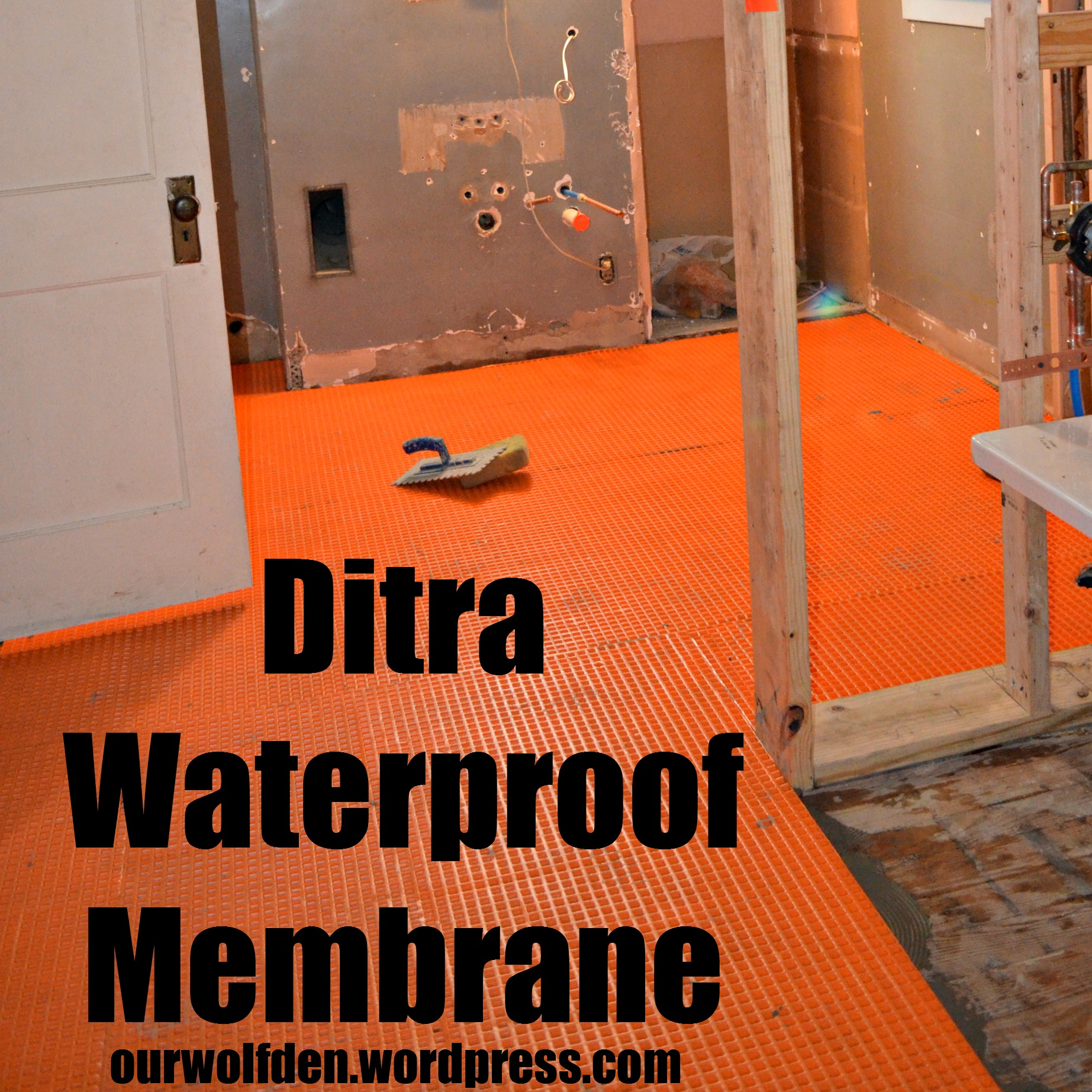 ditra waterproof membrane our wolf den
