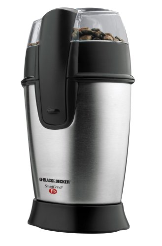 Black & Decker Smartgrind Coffee Grinder, Stainless Steel