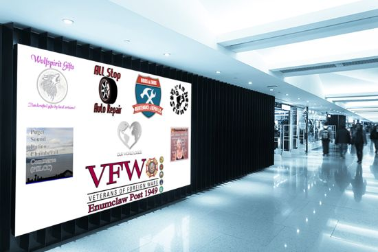 Our World Logos Airport Banner