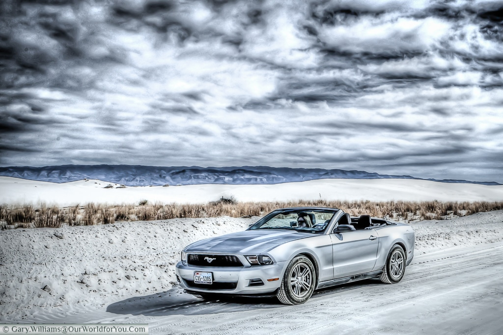 The Mustang at the White Sands National Monument, New Mexico