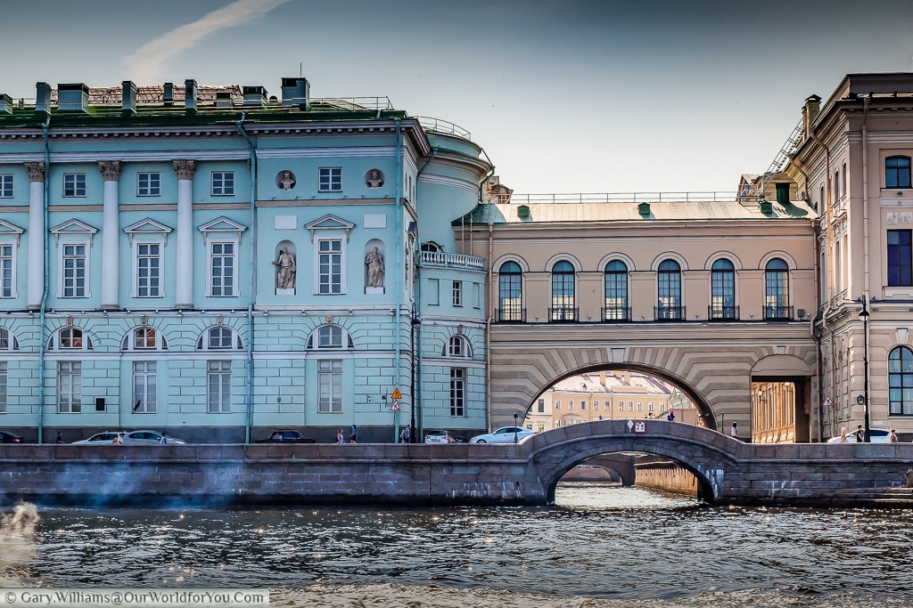 The Winter canal, one of the shortes in St Petersburg, Russia