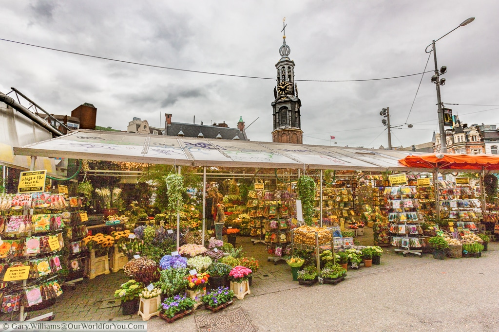The floating flower market, Amsterdam, Netherlands