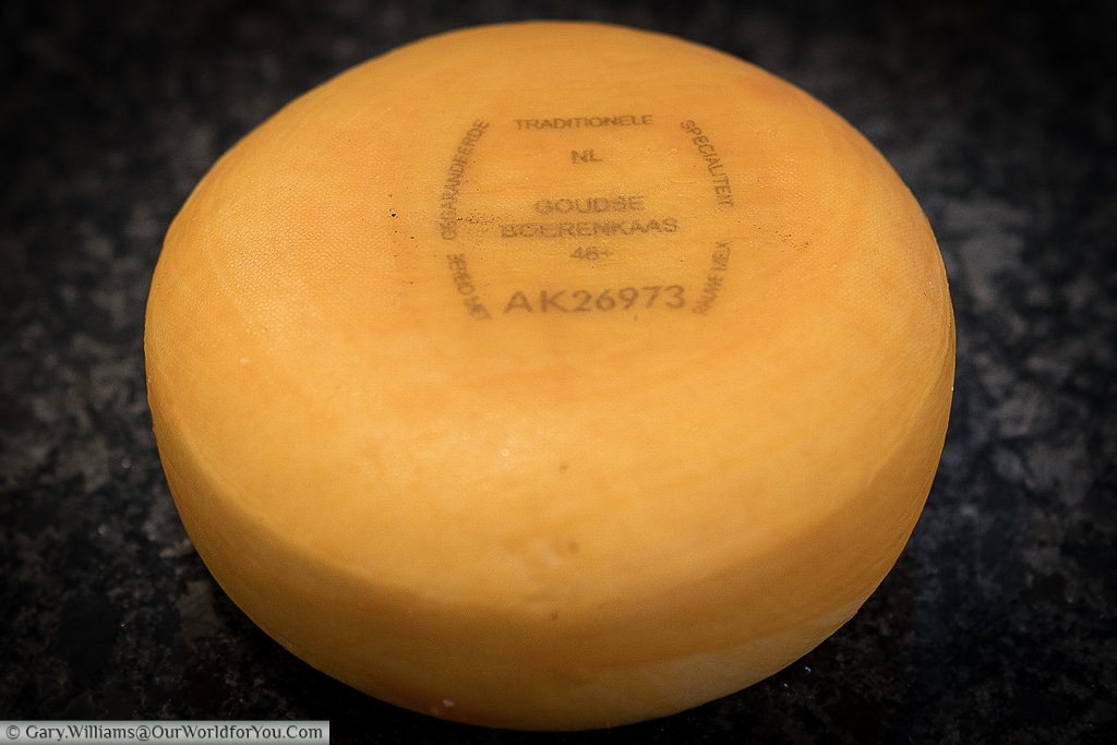 A gouda cheese bought from Amsterdam, Netherlands