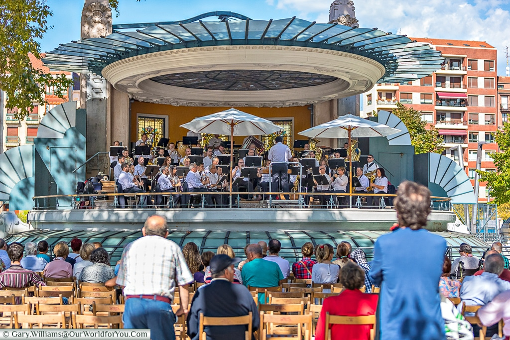 And the band played on at the bandstand, Bilbao, Spain
