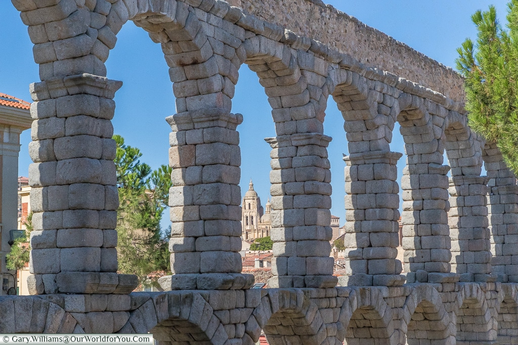 The Aqueduct and the Cathedral, Segovia, Spain