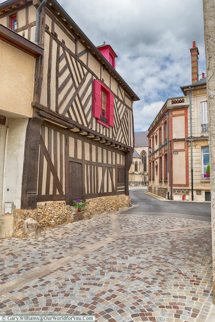 The Cobbled Streets of Ay, Champagne, France