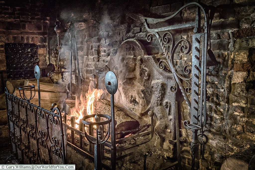 The Giants' Fireplace at the Mermaid Inn, Rye, East Sussex, England, UK