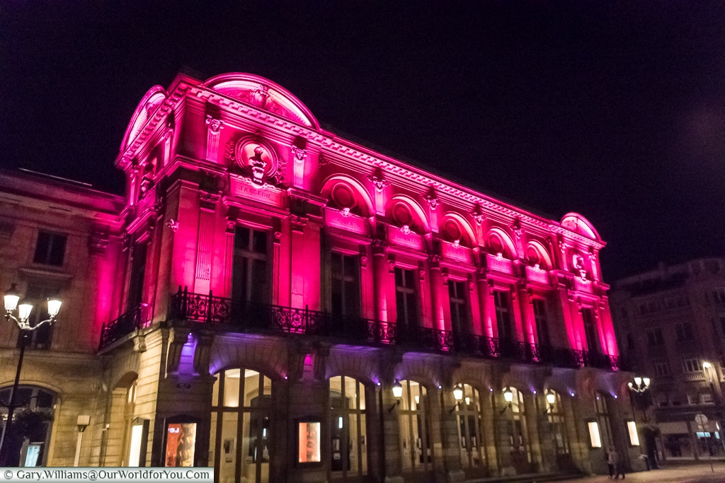 The Opera house at night, Reims, Champagne Region, France