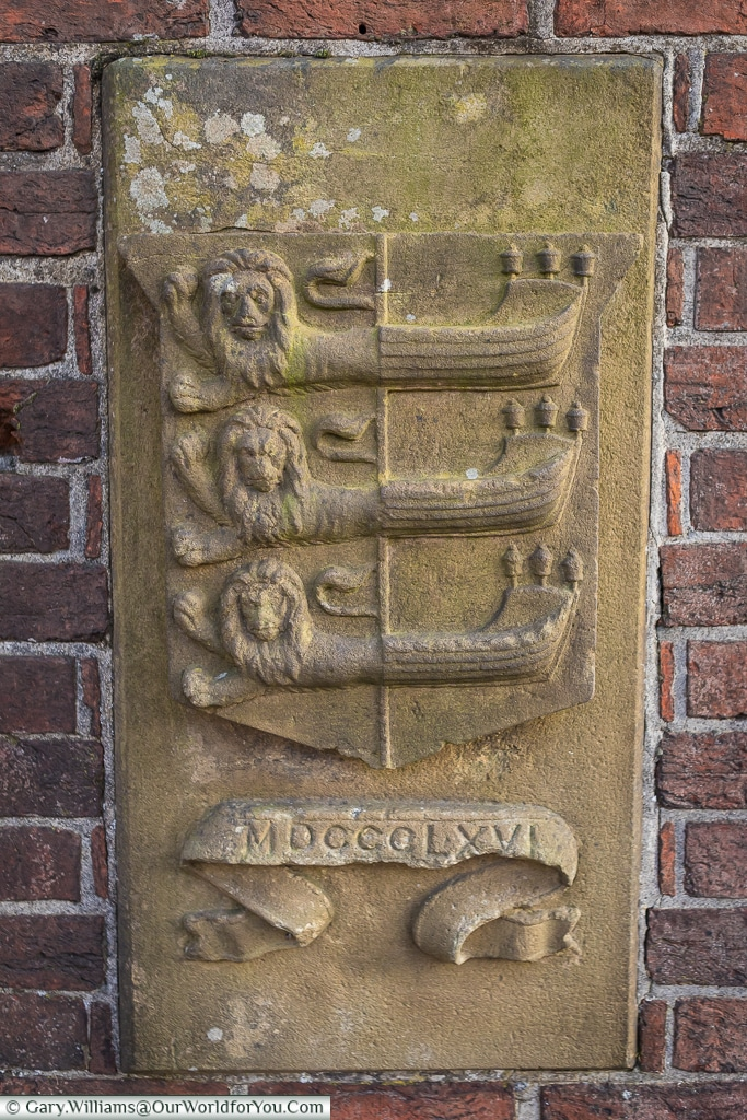 The town sign from 1866, Rye, East Sussex, England, UK