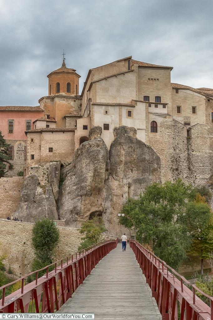 Just look straight ahead - the view across the bridge, Cuenca, Spain