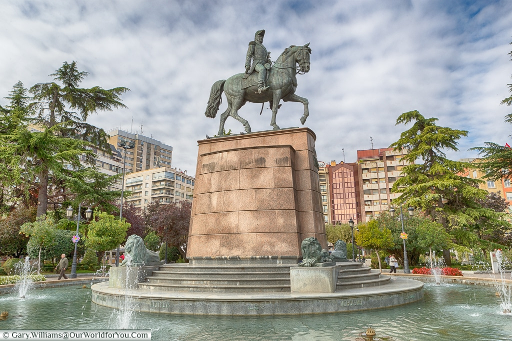 A statue of General Espartero, Logroño, Spain